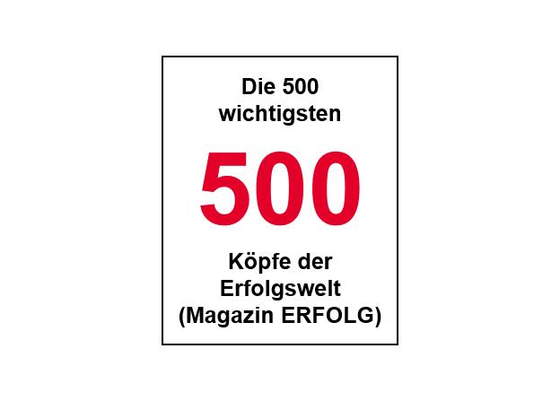500 wichtigste Köpfe der Erfolgswelt (MAGAZIN Erfolg)