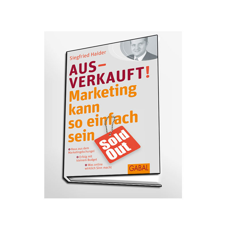 Promotion Material - Buch Cover auf grau